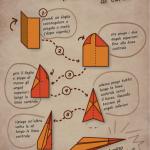 grafica per bambini: aeroplanino di carta