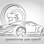 Grafica per targa ricordo raduno Passione Peugeot