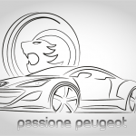 grafica targa ricordo Passione Peugeot