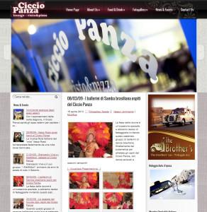 realizzazione sito ristorante Ciccio Panza